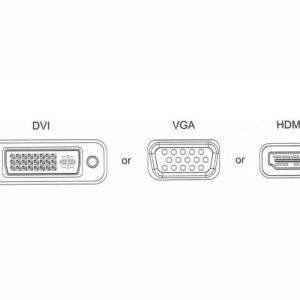 3 In 1 Displayport To HDMI VGA DVI Converter