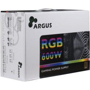 Τροφοδοτικό ATX Inter-Tech Argus RGB-600W 80+ Bronze