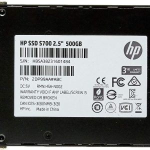 HP S700 500GB 2.5″ SSD ( 2DP99AA # ABB )