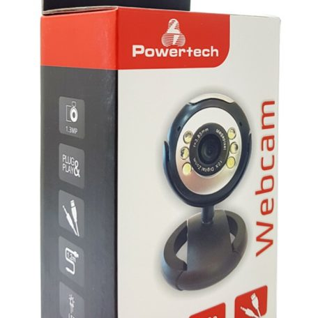 POWERTECH Web Camera (Webcam PT-509) 1.3MP, Plug & Play retail