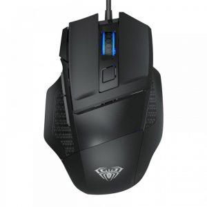 AULA ενσύρματο gaming ποντίκι Mountain S12, 7 πλήκτρα, RGB, μαύρο