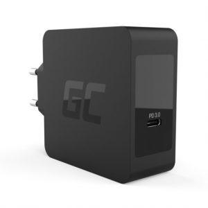 Φορτιστής Green Cell USB-C 60W PD με καλώδιο USB-C για Apple MacBook Pro 13, Asus ZenBook, HP Spectre, Lenovo ThinkPad και άλλα